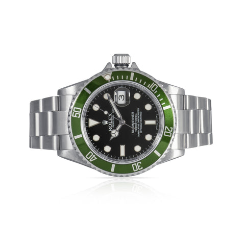Rolex Submariner 50th Anniversary Green Kermit Watch 16610LV. Circa 2007.