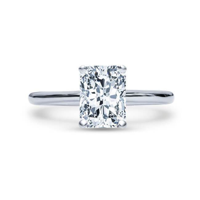 Diamond engagement ring 1.80 ct randiant cut I-s12 GIA