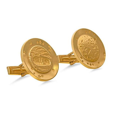 1969 Tiffany & Co. Gold Moon Walk Buzz Aldrin Cufflinks
