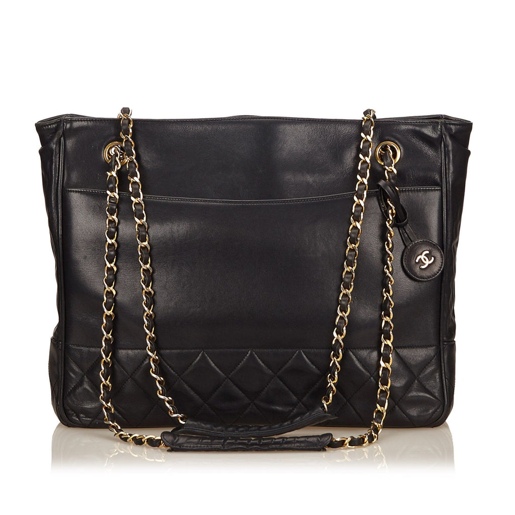 Chanel Quilted Calf Leather Tote Bag