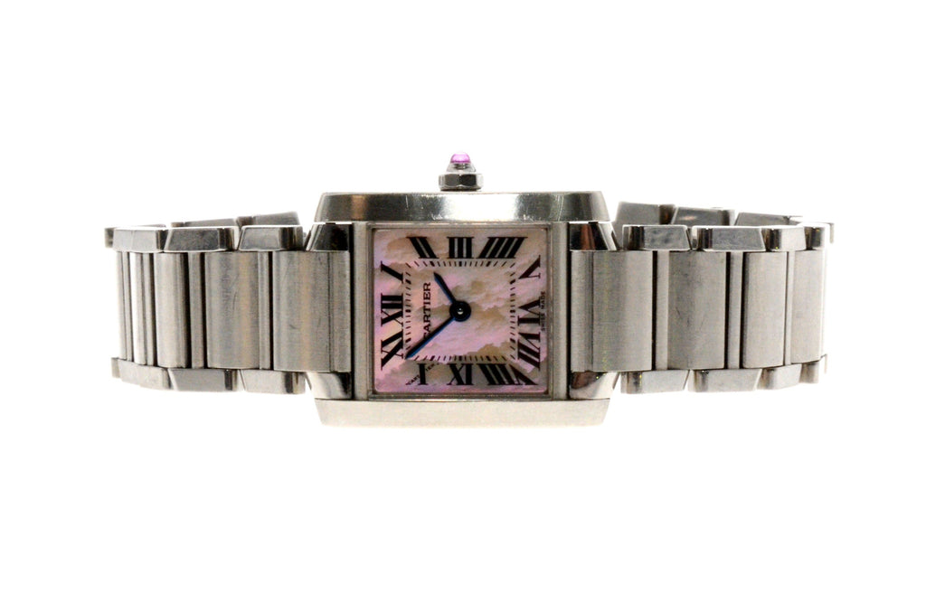 Cartier Ladies Stainless Steel Tank Francaise Watch.