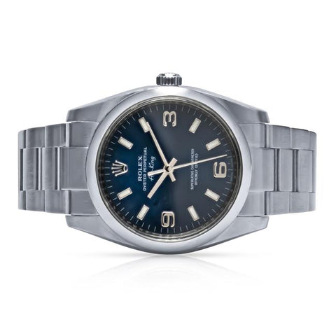 29b6ea09123 Rolex Air-King Stainless Steel Blue Dial 34mm Watch