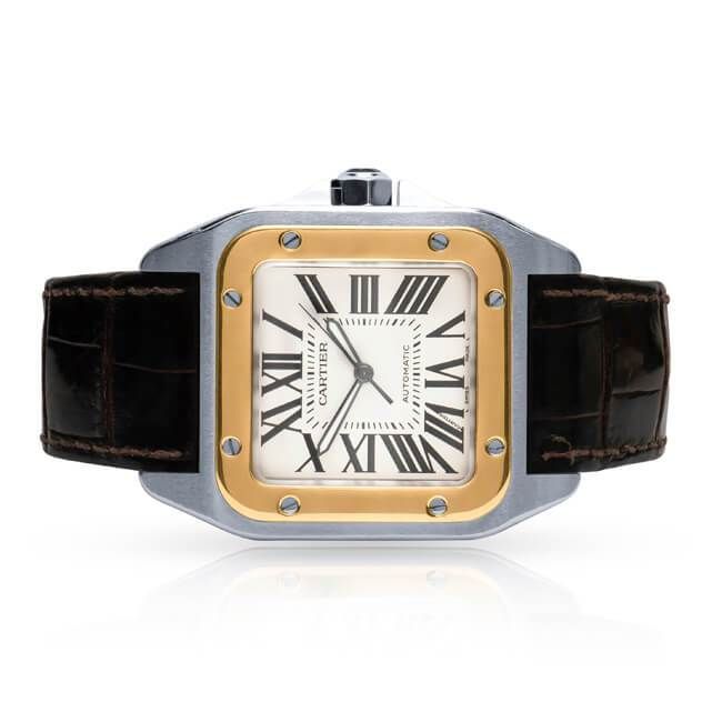 REVIEW Cartier Santos 100 18k & stainless steel watch