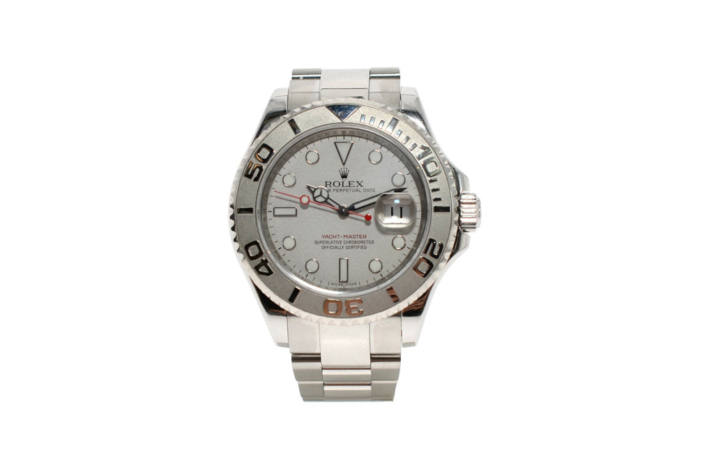ROLEX OYSTER PERPETUAL 40MM MEN'S YACHT-MASTER 16622 STAINLESS STEEL& PLATINUM WATCH.