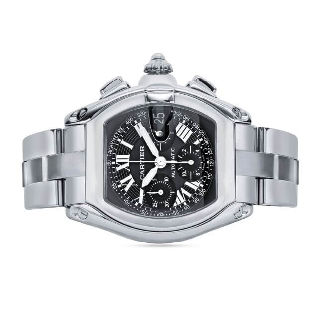 Cartier Roadster Large Stainless Steel Chronograph Watch