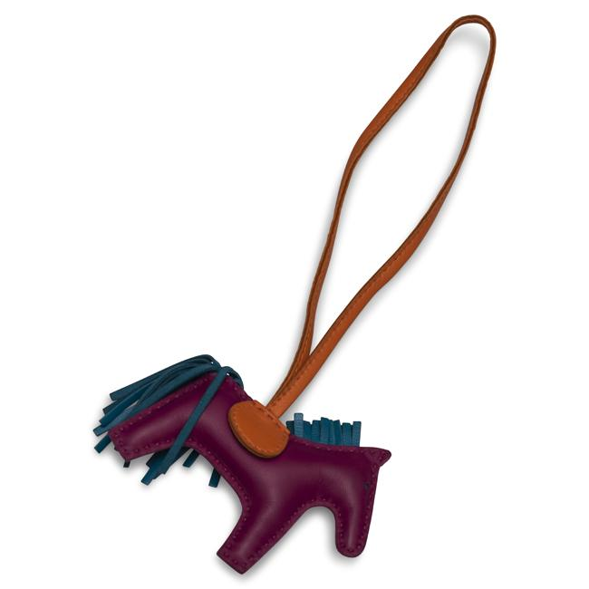 Hermes Rodeo Bag Charm GM Multi Color Swift Leather Rodeo Horse.