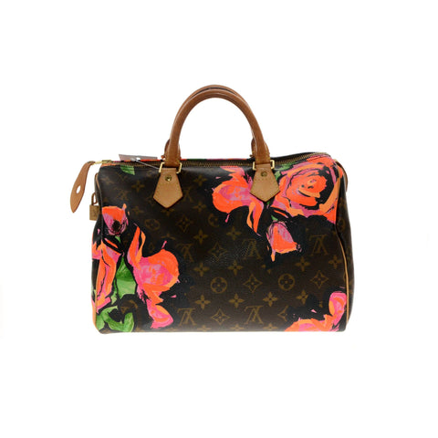 Louis Vuitton Monogram Stephen Sprouse Roses Speedy 30cm