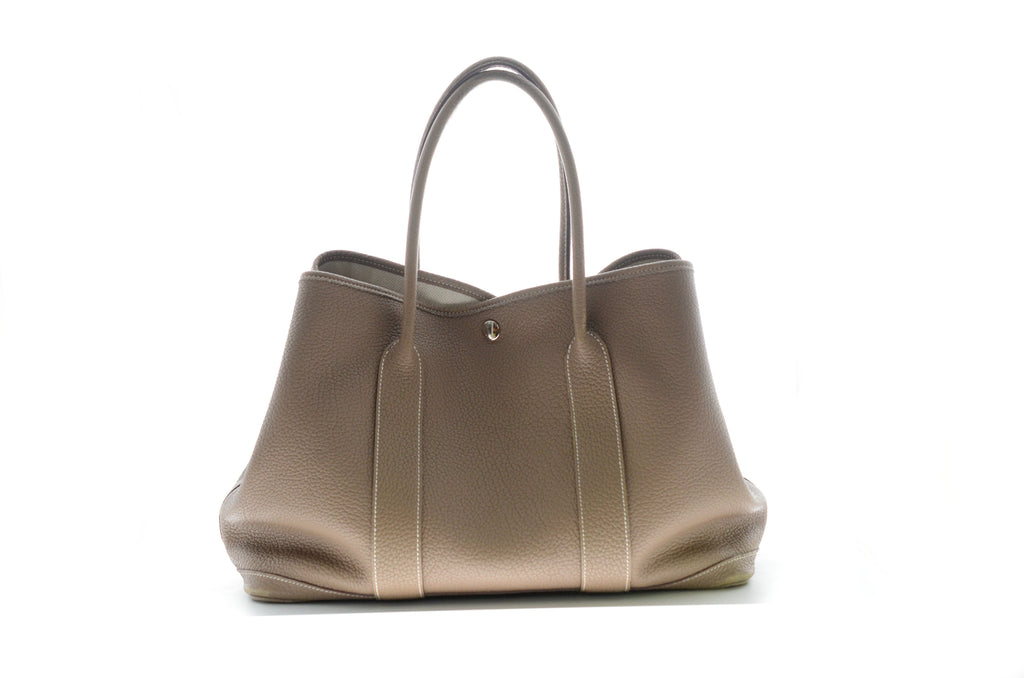 Hermes Garden Party 36 Tote Bag Etoupe.