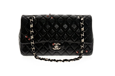 Chanel Black Limited Edition Lady Bug Single Flap Bag.