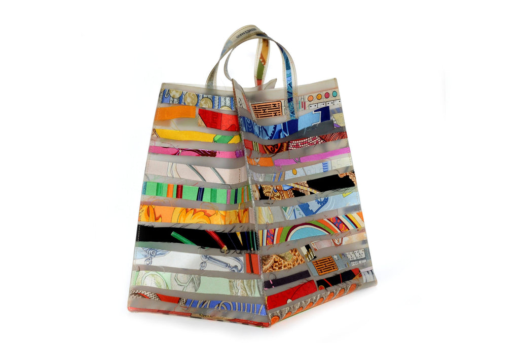 Hermes Petit H Multi Color Ribbon Tote