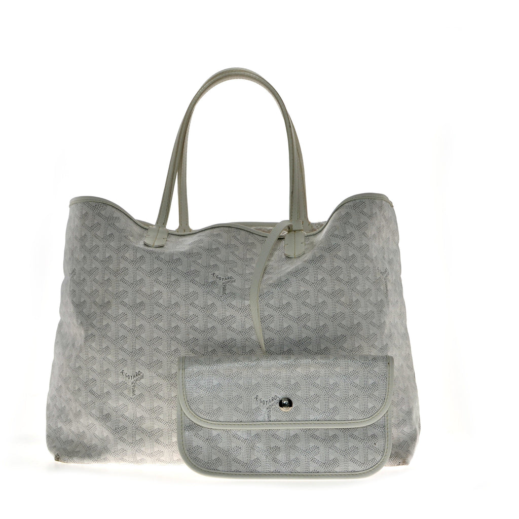 Goyard St Louis Tote White PM.