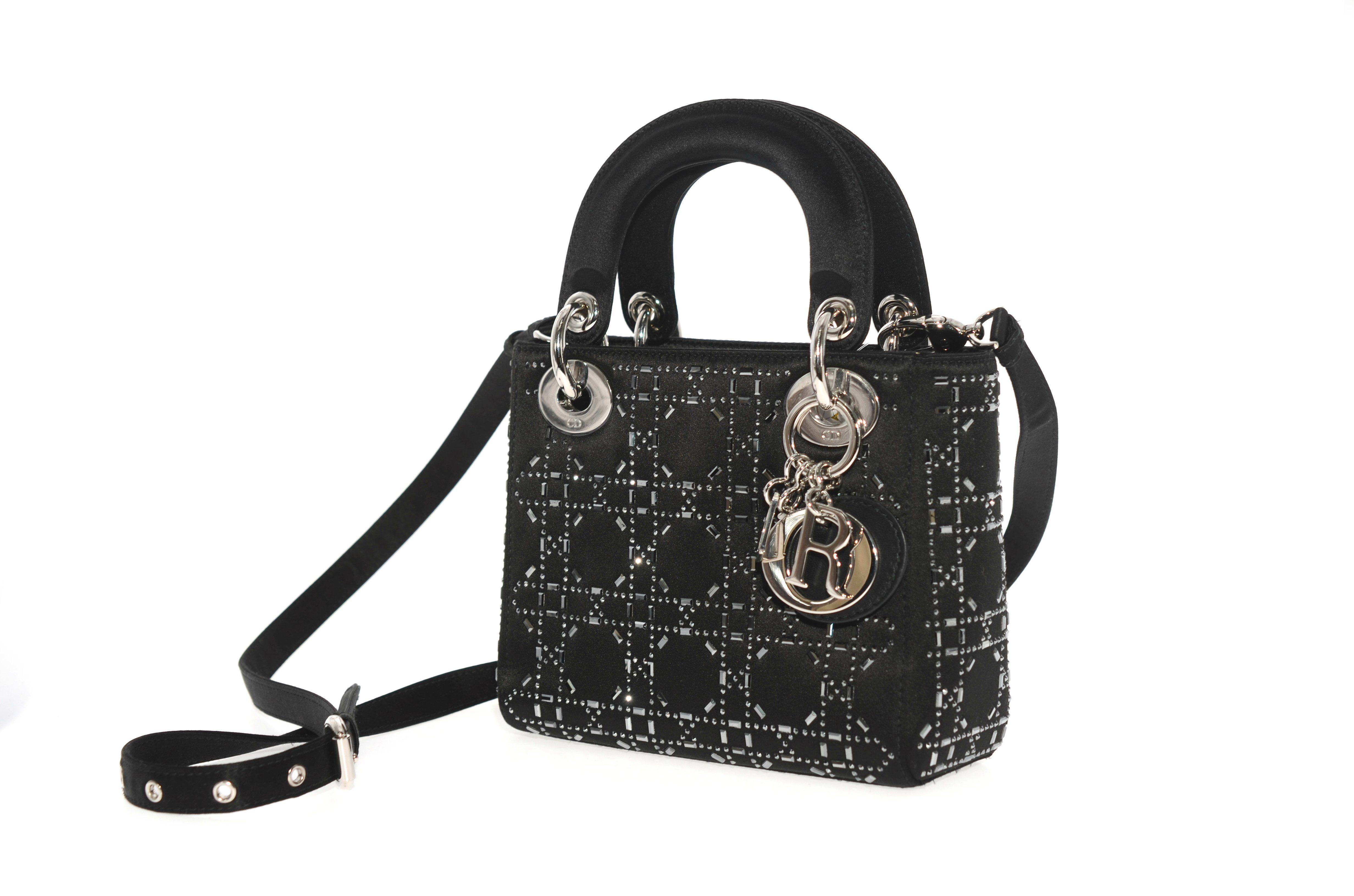 ae425201a5 CHRISTIAN DIOR MINI LADY DIOR BAG IN BLACK