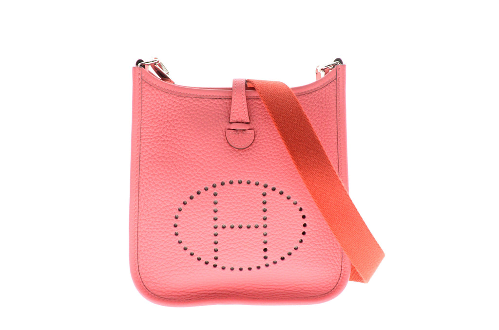 Hermes TPM Evelyne Rose Azalee Togo Leather.