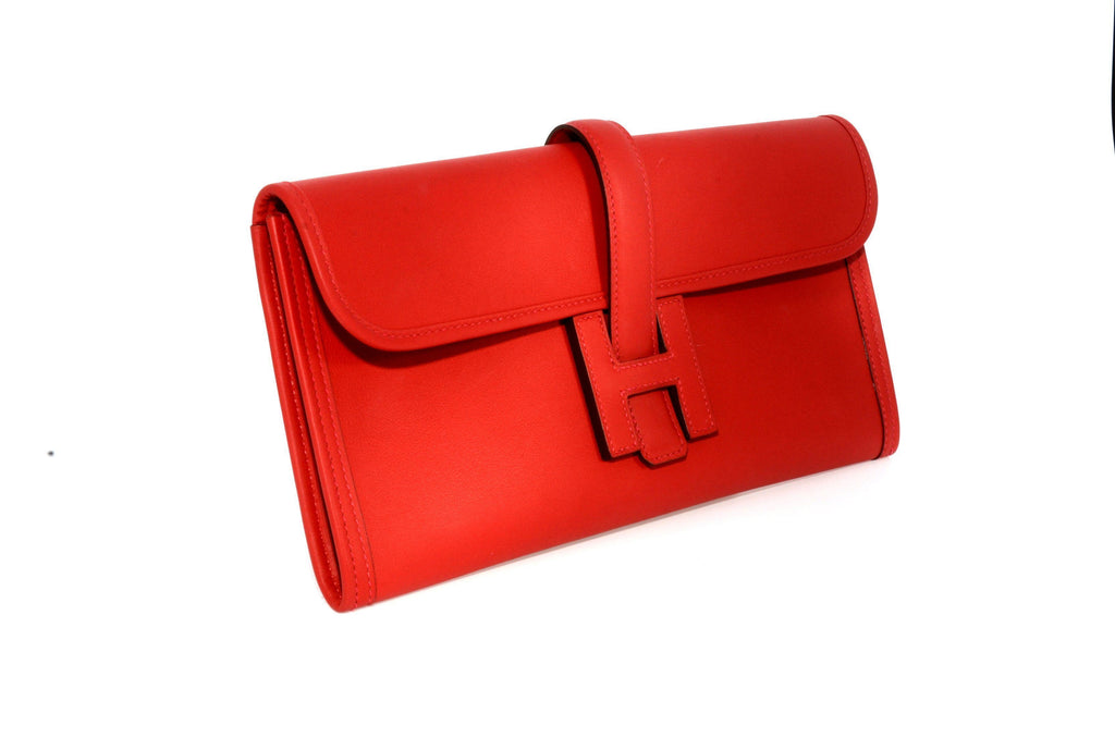 Hermes Jige Elan 29cm Vermillion Swift Year 2015