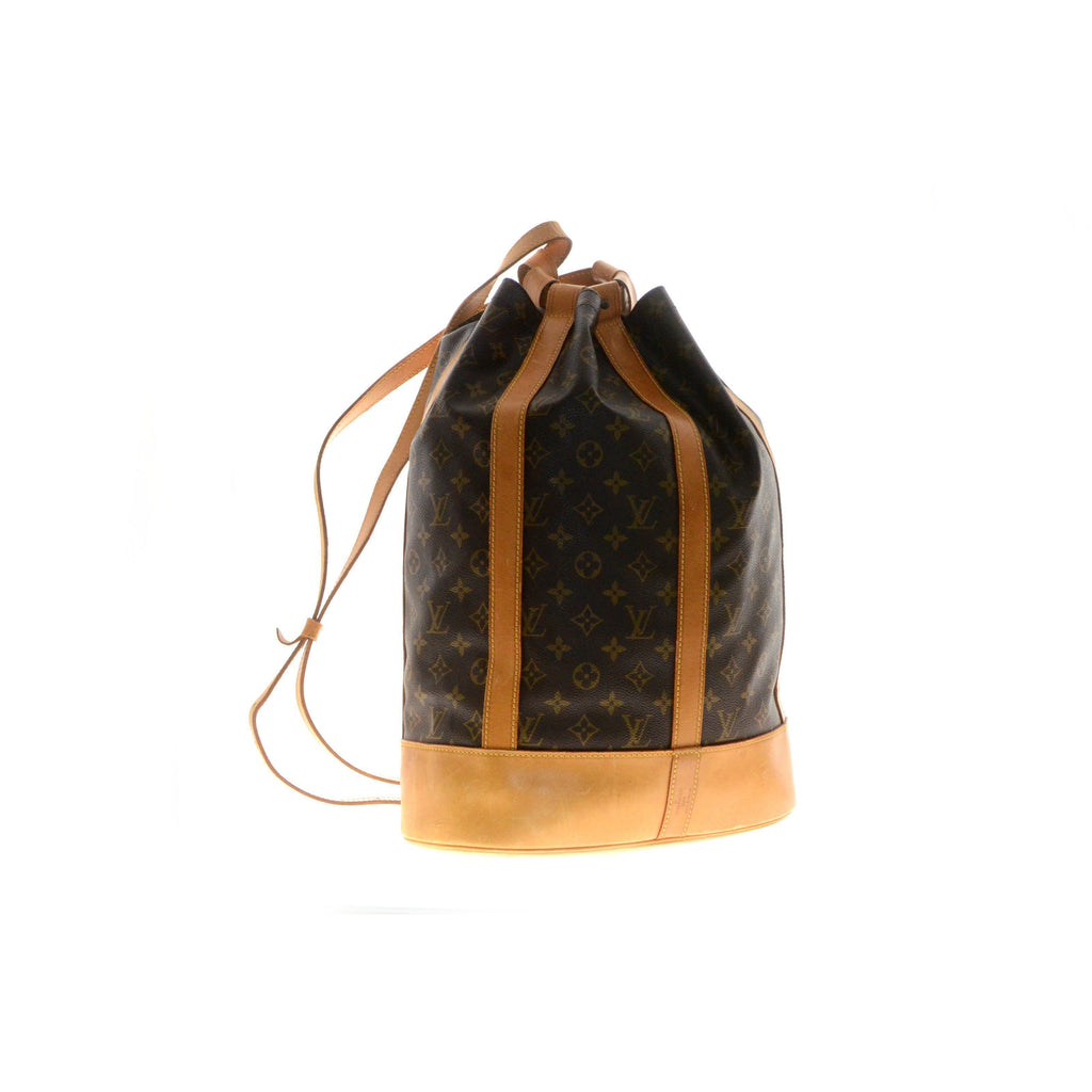 Louis Vuitton Randonnee Gm Monogram Brown Canvas Backpack.