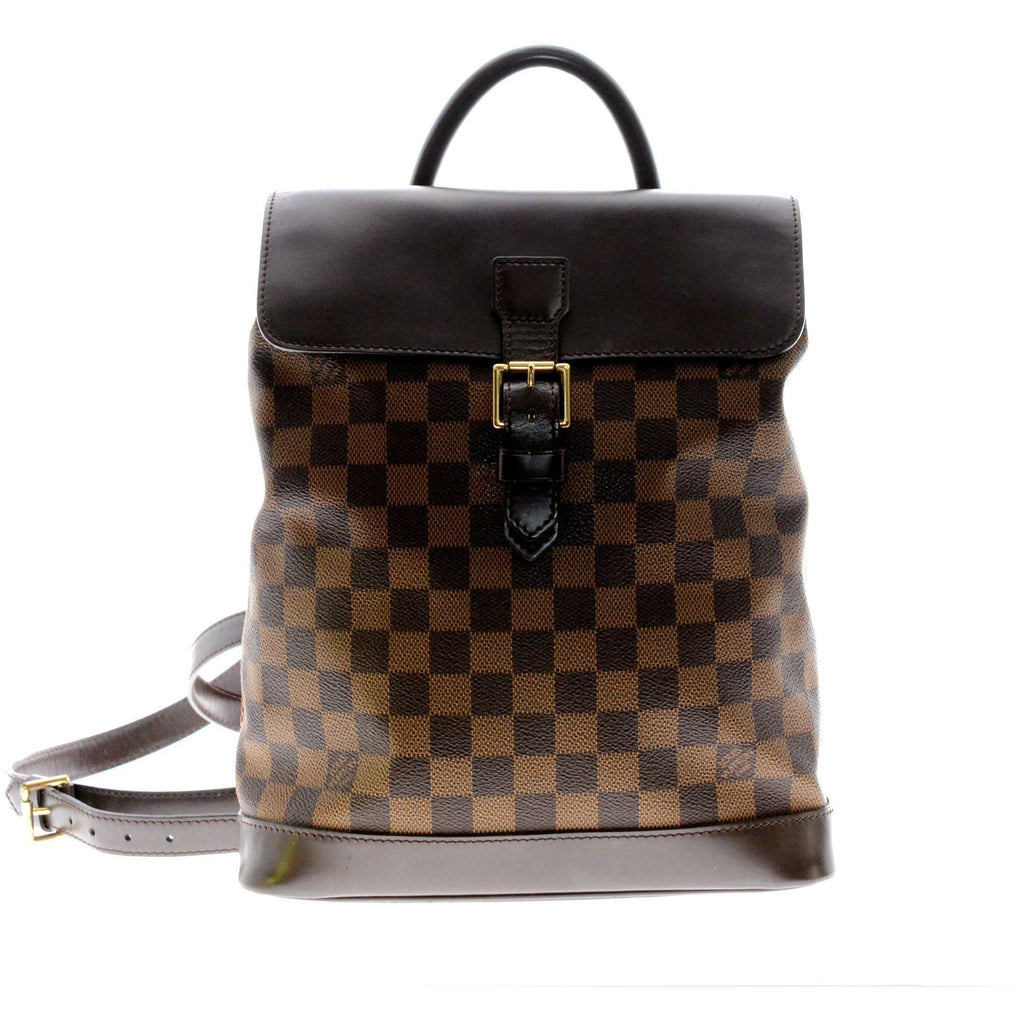 Louis Vuitton Damier Ebene Soho Backpack.
