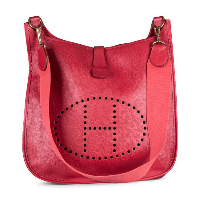 HERMES RED EPSON EVELYN I MESSENGER BAG