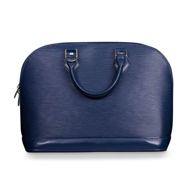 Louis Vuitton Blue Epi Leather Pm Alma Bag
