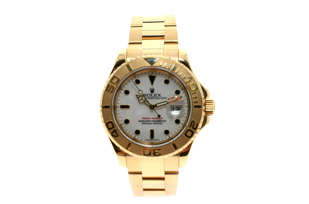Rolex YACHT-MASTER 40mm 18K Yellow Gold White Dial 16628.