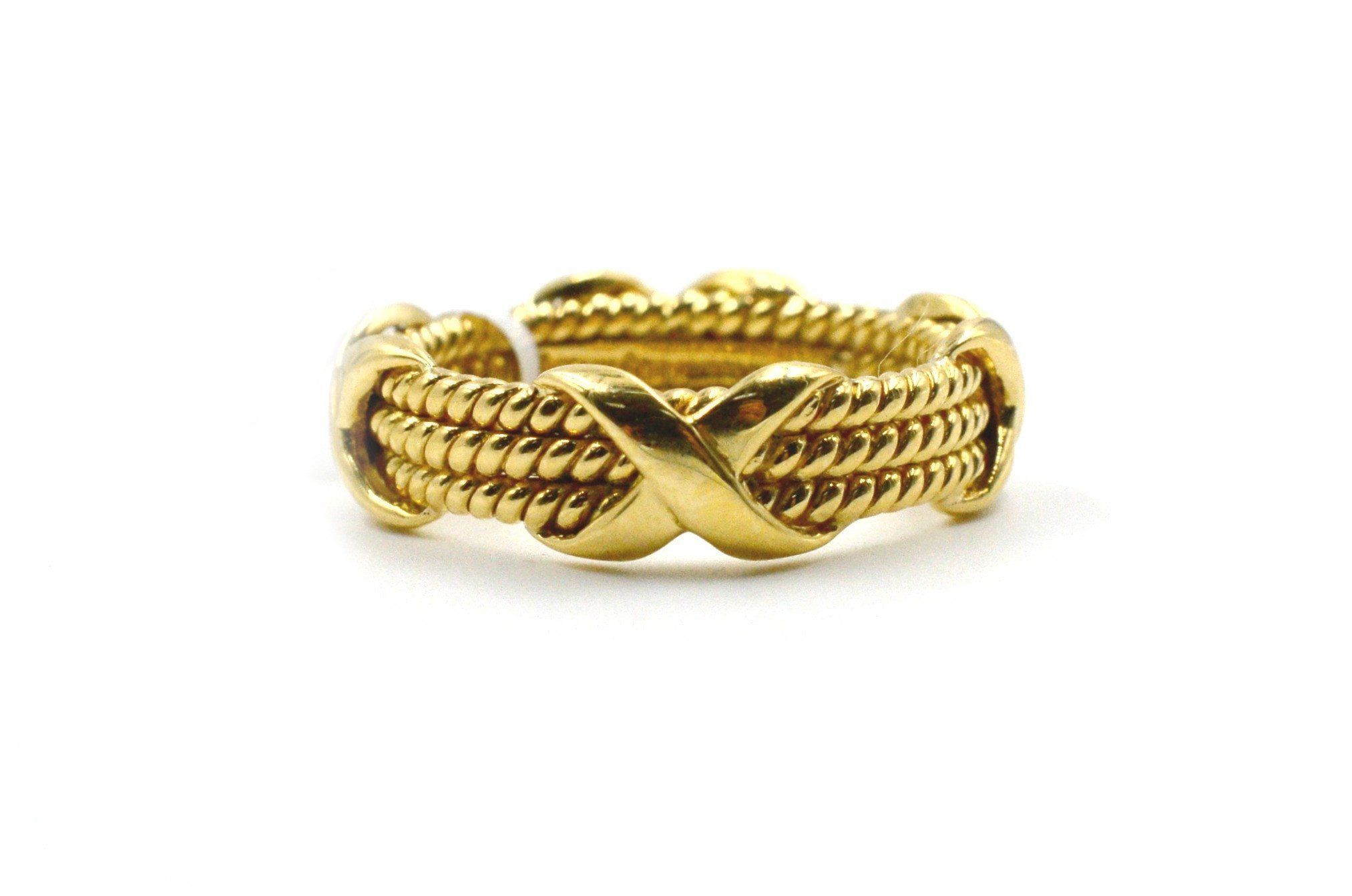 e2ad629481ab Tiffany-Jean Schlumberger Gold  three Row Rope  Ring – The Vintage ...