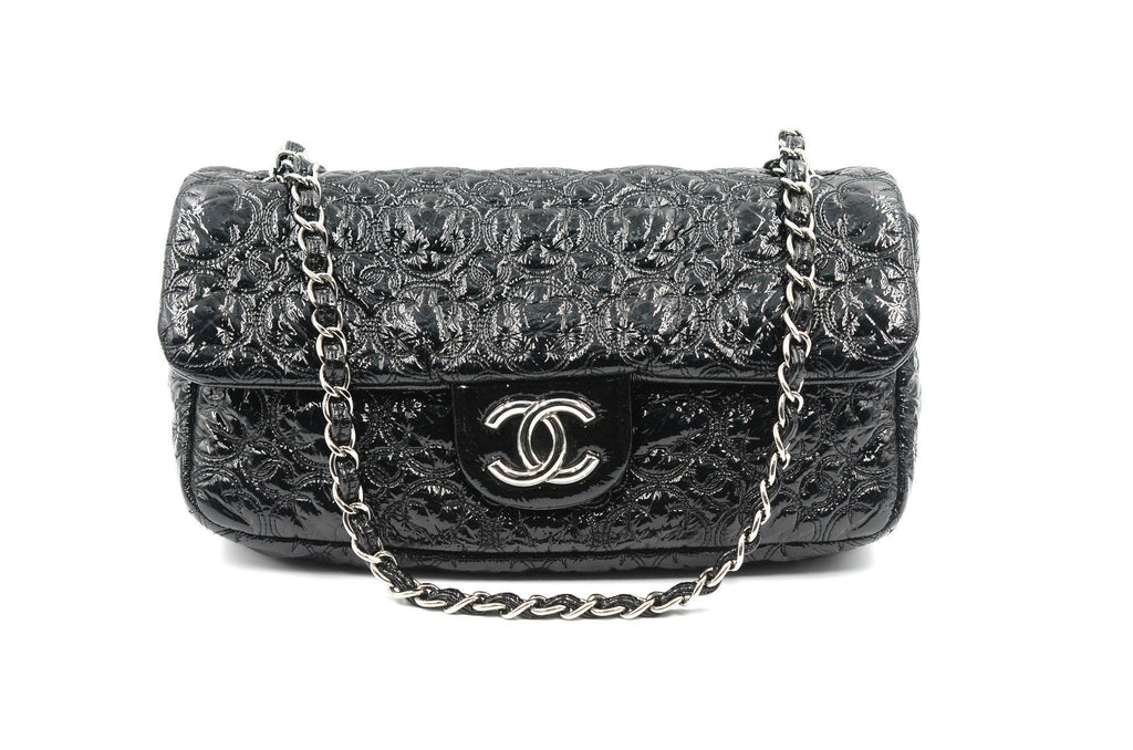 Chanel Patent Black with silver hardware