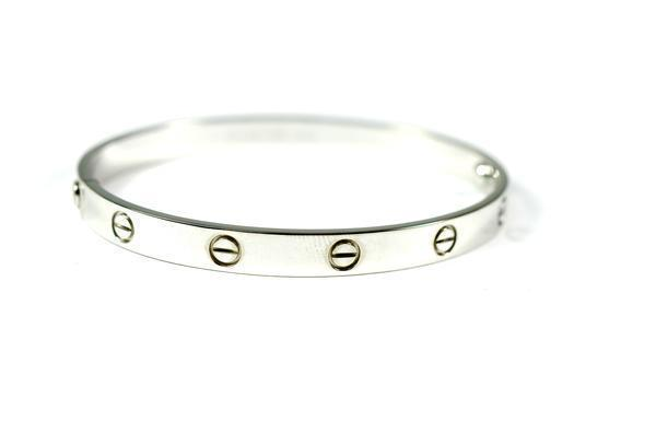 CARTIER LOVE BRACELET WHITE GOLD SIZE 20CM