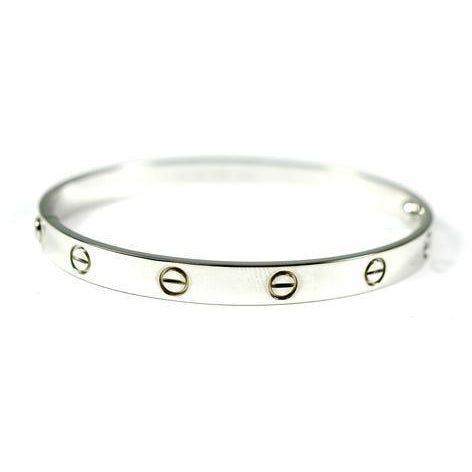 CARTIER LOVE BRACELET WHITE GOLD SIZE 21CM