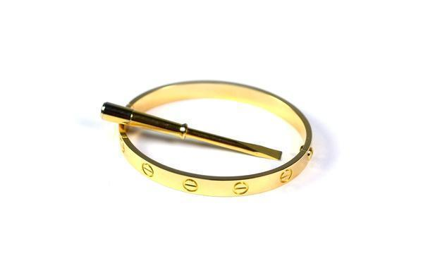 CARTIER LOVE BRACELET YELLOW GOLD SIZE 19CM