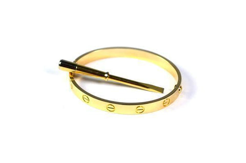 CARTIER LOVE BRACELET YELLOW GOLD SIZE 20CM