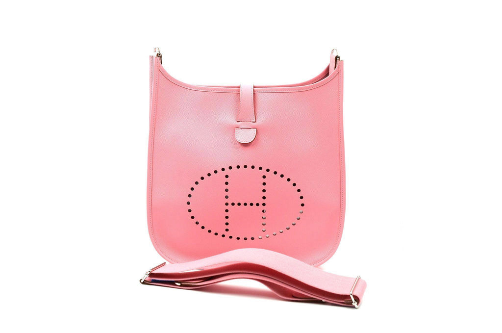 Hermes Pink Messenger Cross Body Evelyne III GM