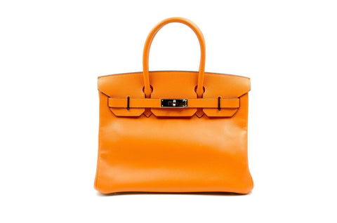 2b71b86671a Hermes 30cm Orange Birkin Paladium Hardware