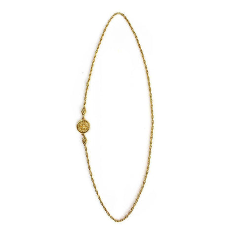Chanel C Medallion Necklace
