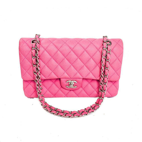 Chanel Double Flap Pink Caviar