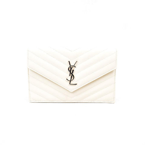 Yves Saint Laurent White Wallet on Chain
