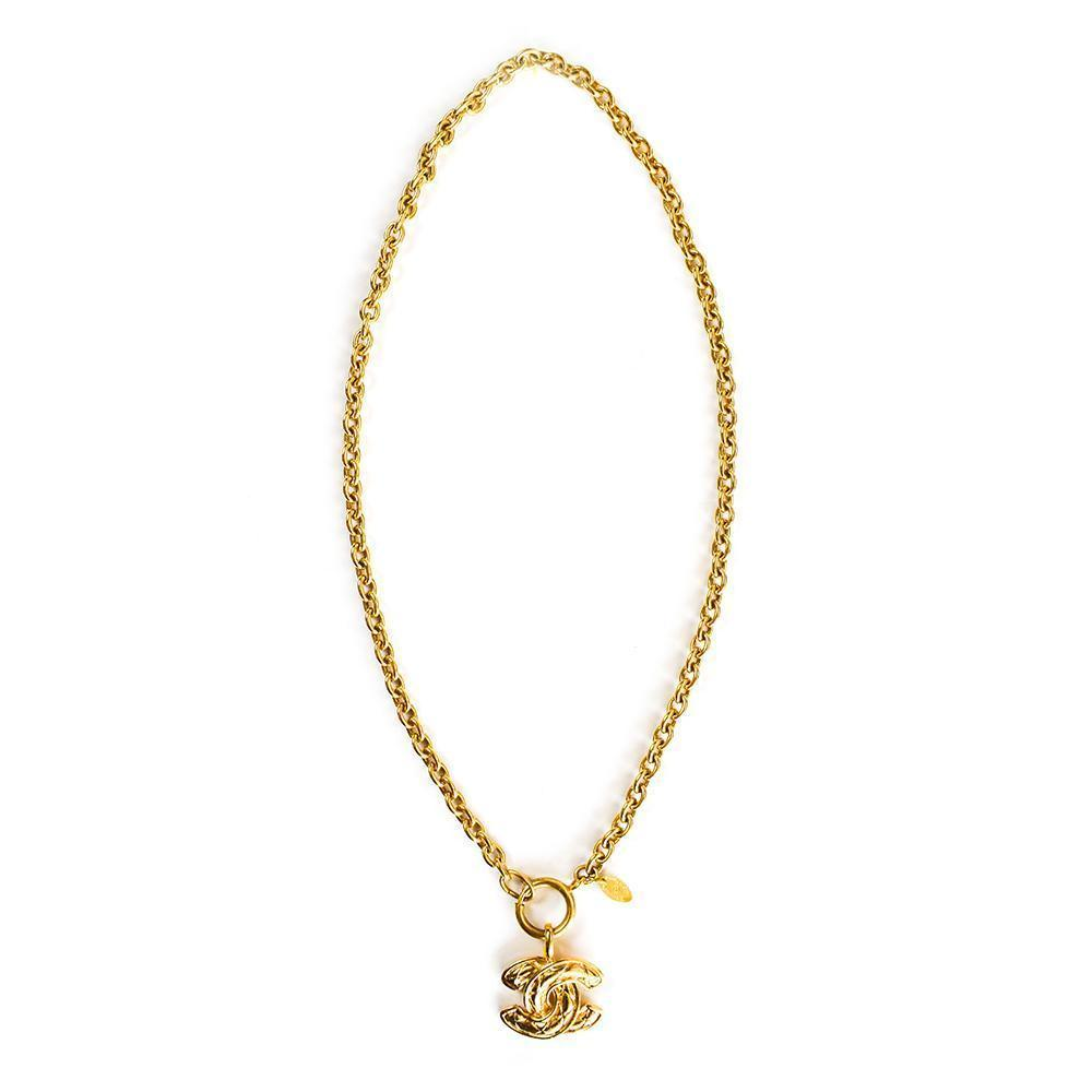 Chanel Double C Toggle Necklace