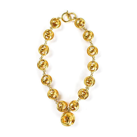 Chanel Double C Ball Necklace