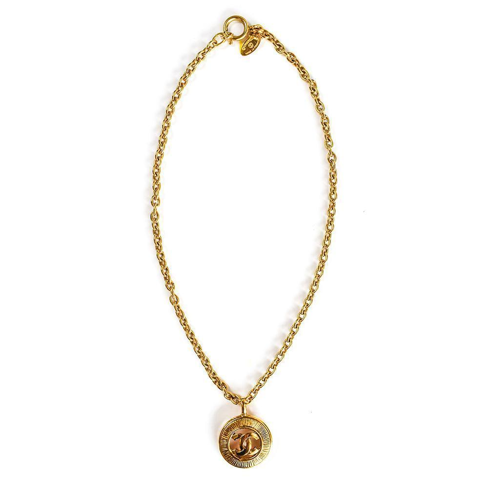 Chanel Double C Circle Necklace
