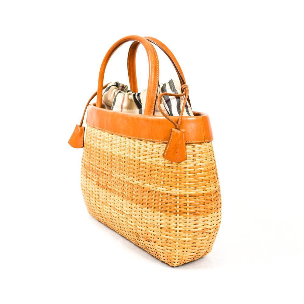 Burberry Basket Wicker Handbag