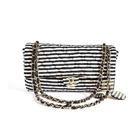 Chanel Stripe Flap Bag