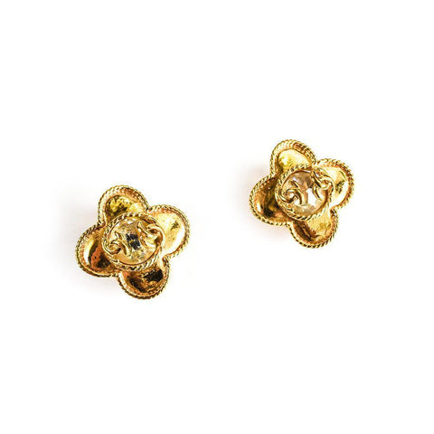 Chanel Chrystal Floral Earrings