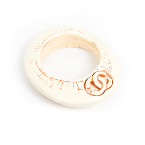 Chanel Double C Bangle, Cream