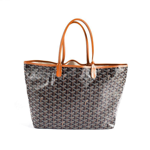 Goyard St. Louis PM Black with Brown Trim Tote