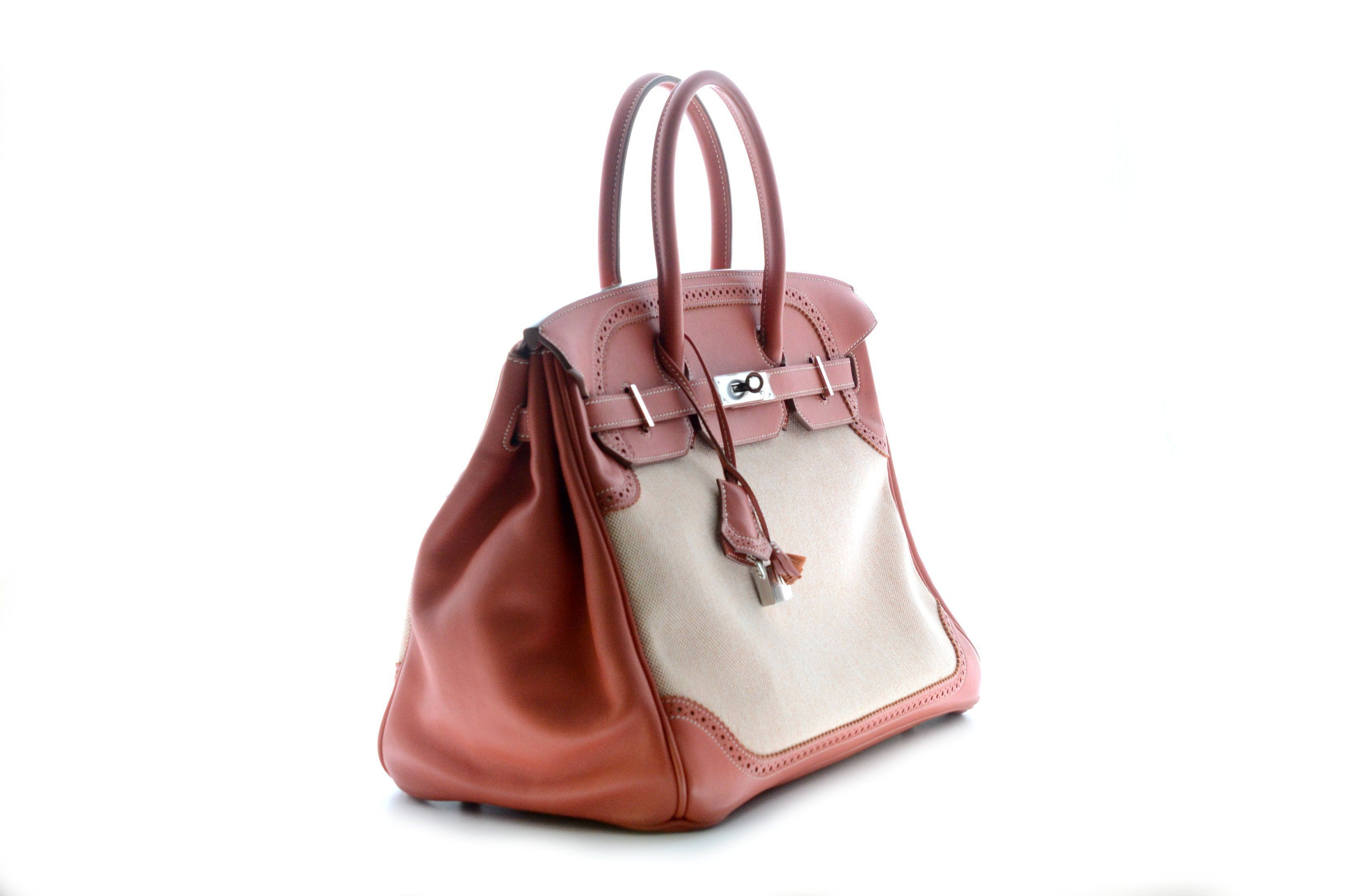 a0360d86a75 Hermes Birkin 35cm Ghiles Swift Rouge with Palladium Hardware. – The ...