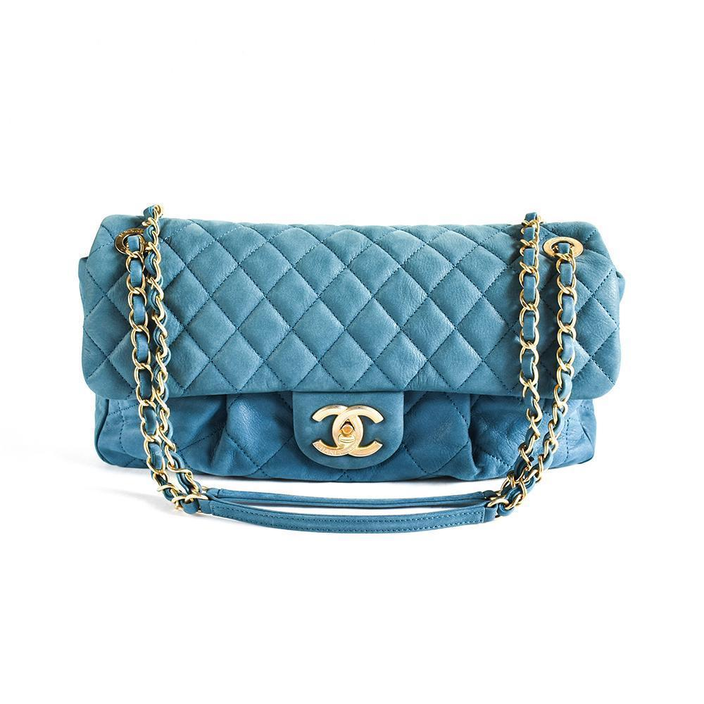 Chanel Blue Single Flap