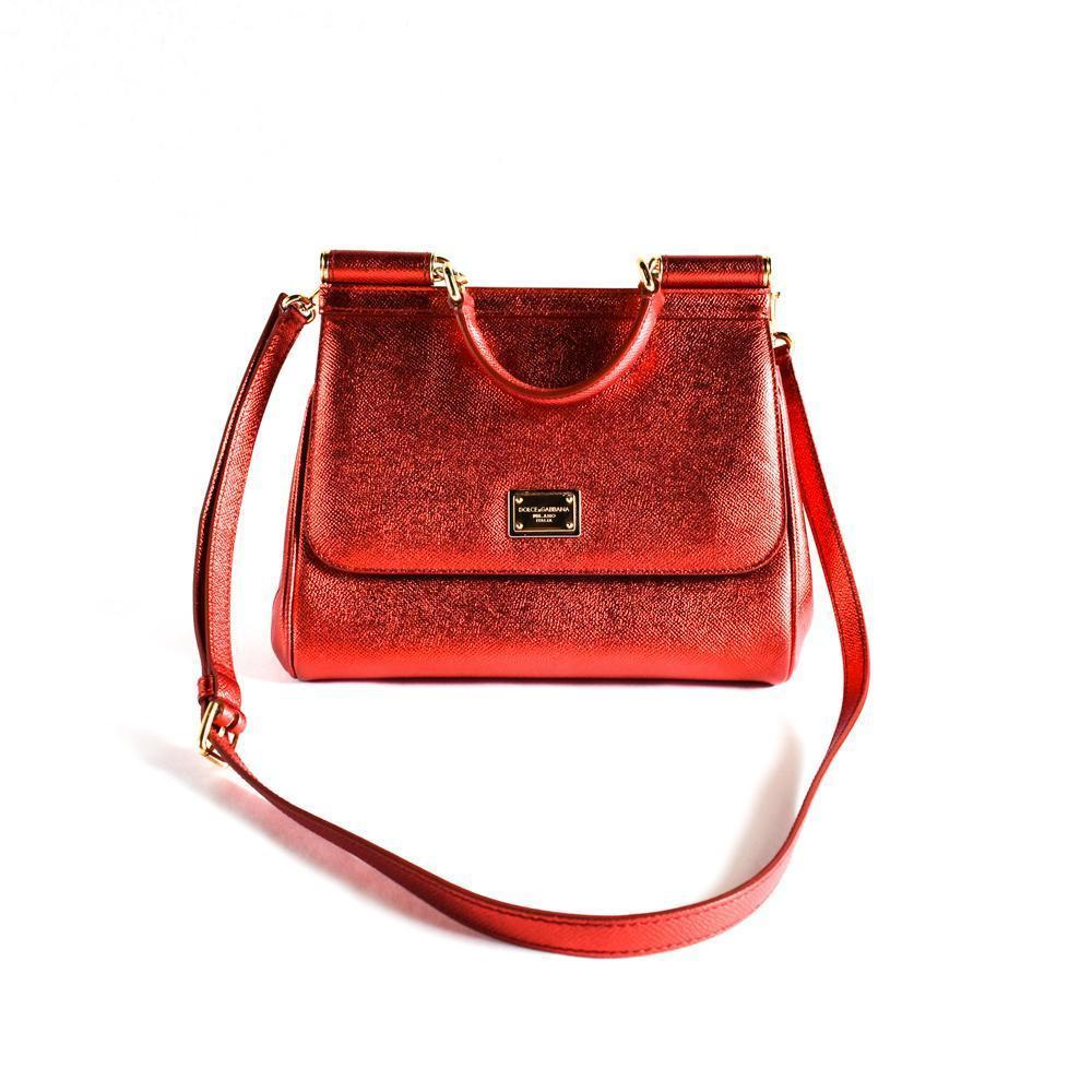 Dolce & Gabbana Red Small Miss Sicily Bag