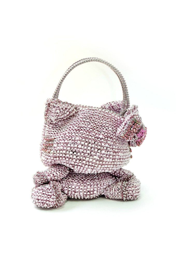 Hello Kitty Anteprima Pink and Silver Wire & Ribbon Bag