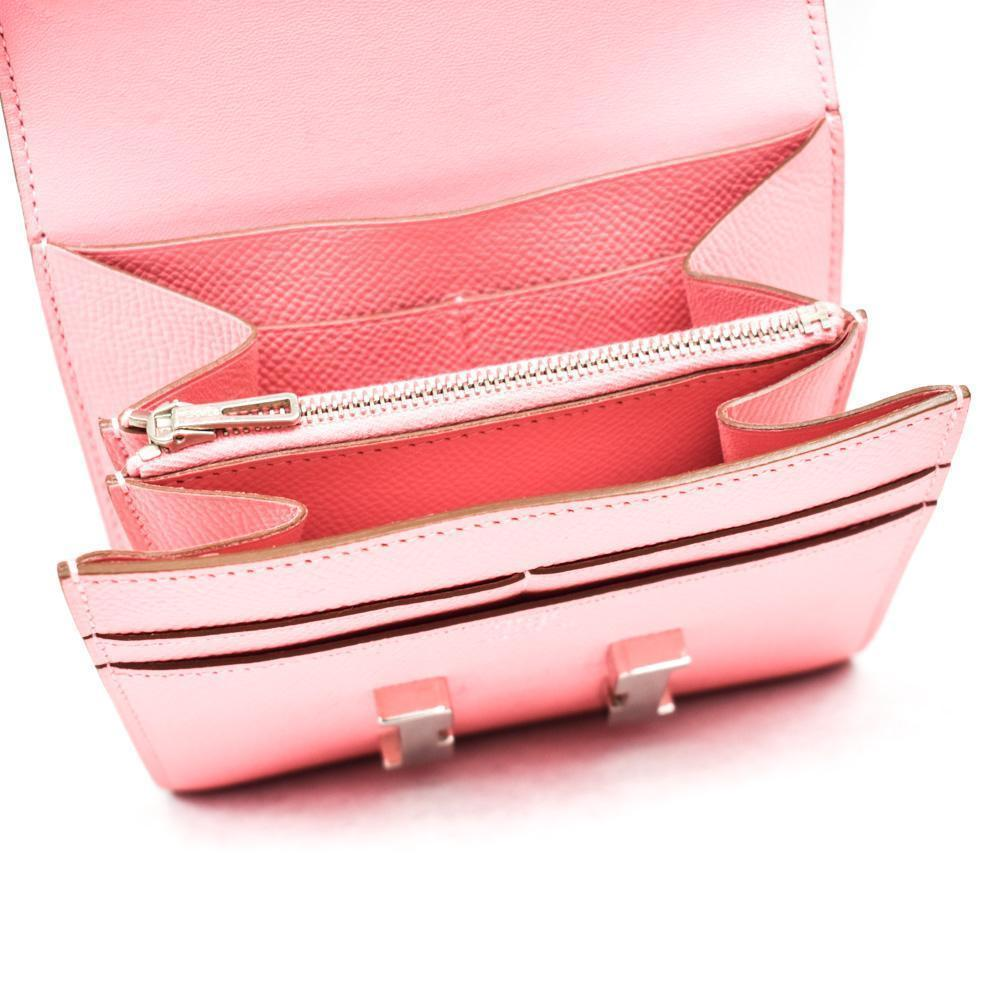 Hermes Constance Compact Pink Wallet
