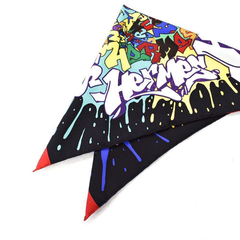 Hermés Graffiti Cashmere and Silk Scarf