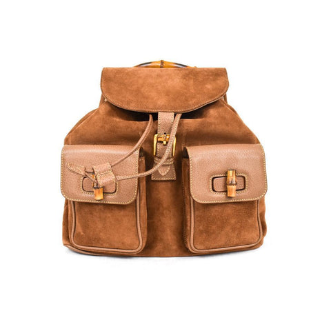 Gucci Brown Suede Backpack