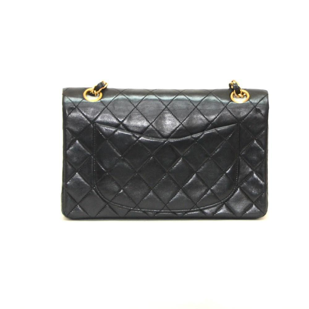 f5b621106ff5a6 Authentic Vintage Chanel Bag Handbag in Black Calf Leather – The ...